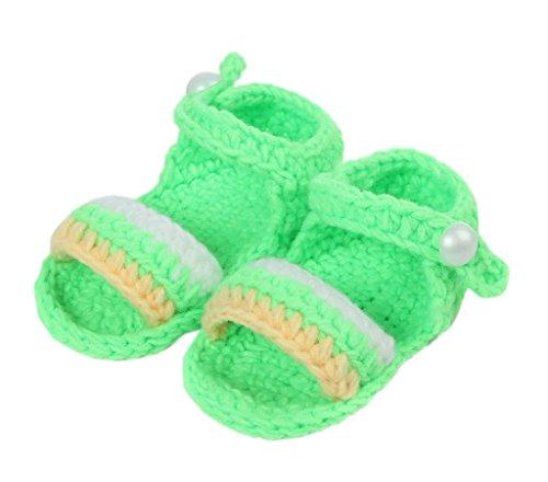 Bigood Sandales Bébé Nouveau-né Tricot Chaussure Eté Marche Souple