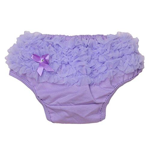 Culotte Bloomer Couvre-couche Prop Photographie pour Bébé Fille Taille S (Violet Clair)