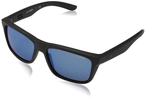 Arnette 0an4217 01/55, occhiali da sole uomo, nero (matte black/mirrorbluee), 57