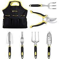 SET 7 en 1 Herramientas de Jardinería CookJoy Kit de Jardineria con asas ergonómicas, Tijeras