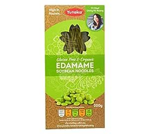 Yutaka Gluten free and Organic Edamame Soybean Noodles, 200 g, Pack of 4