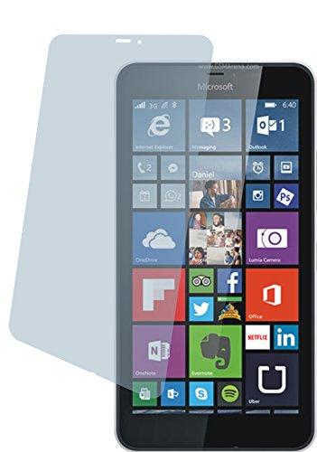 Microsoft Lumia 640 XL LTE Dual (2 Stück) PREMIUM Displayschutzfolie Bildschirmschutzfolie kristallklar - KRATZFEST UND PASSGENAU