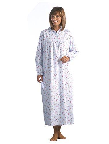 - 41zu 2B7 NHOL - Ladies Floral Flannel Nightdress Sizes XS – XXXL