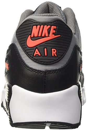 Nike Air Max 90 Mesh Gs, Sneakers Mixte Enfant Multicolore (Cool Grey/black-max Orange-white)