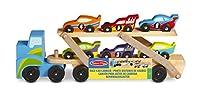 Melissa & Doug 12759 Mega Race Car Carrier Toy