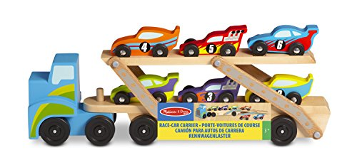 melissa-doug-mega-race-car-carrier-wooden-tractor-and-trailer-with-6-unique-race-cars