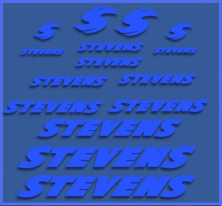 Ecoshirt 51-TN8Q-AIZD Aufkleber Stevens Dr1118 Vinyl Adesivi Decal Aufkleber Polyurethan(n) MTB Stickers Bike, blau
