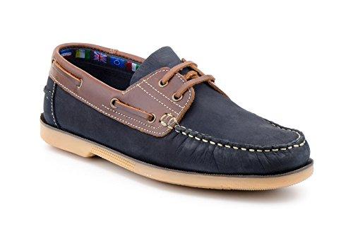 Sachini , Chaussures bateau pour homme Bleu Marine