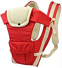 Baby Carrier 1 Pc Adjustable Hands Free 4-In-1 Baby Carrier - Red (Strap Color May Vary)