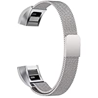 Replacement Bands Compatible for Fitbit Alta and Alta HR Milanese Loop Stainless Steel Metal Bands Bracelet Smart Watch Strap for Women Men - Small, Silver