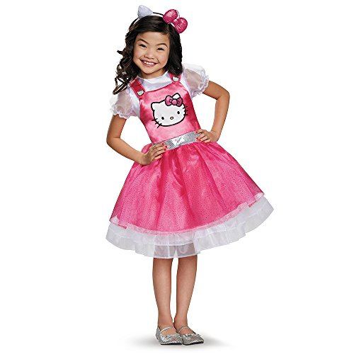 Disguise 93621L Hello Kitty Pink Deluxe Costume, Small (4-6x) by Disguise (Halloween-party-ideen Kitty Hello)