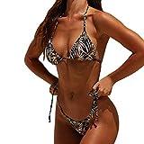 SHJIRsei Costumi da Bagno Donna Bikini Sexy 2019 Costumi Donna Mare Due Pezzi Brasiliana Costumi Interi Donna Taglie Forti Push Up Bikini Sexy a Due Pezzi con Cinturino alla Caviglia