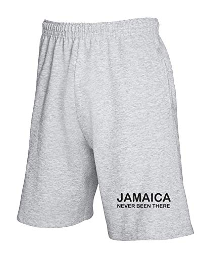 T-Shirtshock Jogginghose Shorts Grau TDM00139 Jamaica Never Been There