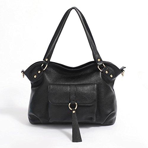 Chlln Eine Springflut Mode Leder Handtasche Leder Damen Handtasche Tasche Retro - Pendler - Cross - Leder - Tasche Black