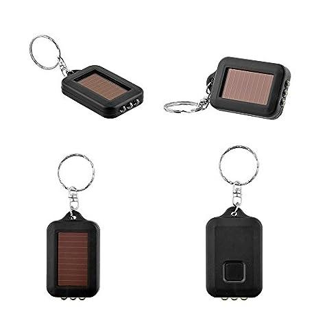 Sedeta flashlight torch led light Mini Solar Power 3 LED Light Keychain Keyring Torch Flashlight Gift NEW flashlight