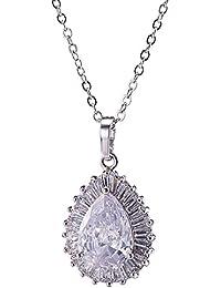 EOZY Collier Pendentif Royal Zircon Femme Bijoux Jewelry Parure Fille Lady Love Amour