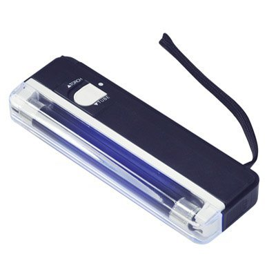 A-szcxtop (TM) portable ultra violet Lumière noire Lampe & torche détecteur UV–Billets, noir, 160 x 55 x 22mm