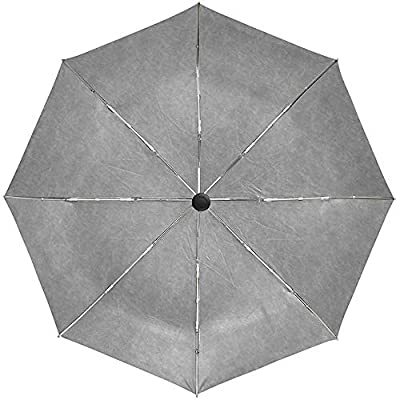 Paraguas automático Textura Gris Rugosidad de la Superficie Viaje Conveniente A Prueba de Viento Impermeable Plegable Automático Abrir Cerrar