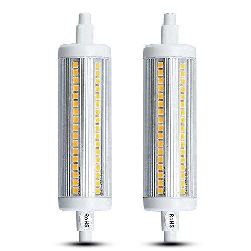 Lustaled R7s Led Lampe Leuchtmittel 20W 118MM 220V Warmweiß 3000K 1800 Lumen 360°Abstahlwinkel wie 180W Halogen Tube Licht für Wandlampe/ Wandleuchte, Flutlicht (2-Stück Nicht Dimmbar) (Metall-halogen-scheinwerfer)