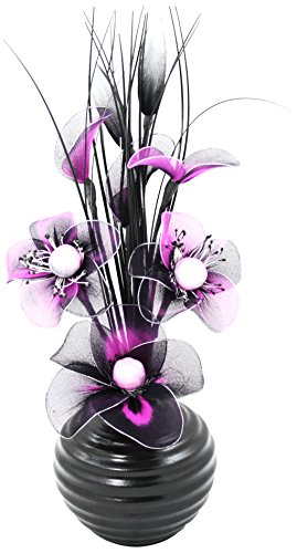 Flourish 704209 813 Black Vase w...