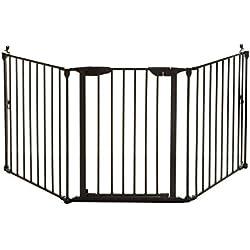 Dreambaby Barrière de sécurité de trois panneaux Newport Adapte-Gate (85.5cm - 200cm), noir