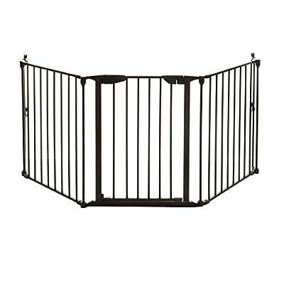 Dreambaby Newport 3 Panel Adapta-Gate (Fits 85.5- 210cm), Black