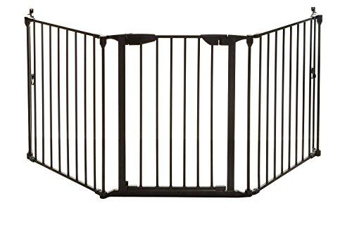 Dreambaby Barrera de Seguridad 3 paneles Newport Adapta-Gate (85.5cm - 210cm), negra