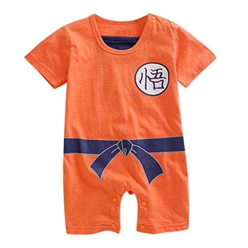 Neugeborenen Cartoon gedruckt kurzen Ärmeln Strampler Kostüm Body ()