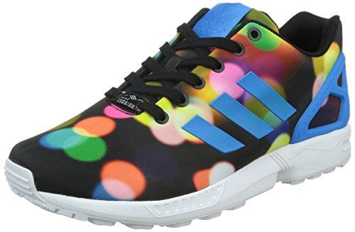 Adidas Zx Flux, Scarpe da Corsa Unisex Adulto, Multicolore (C Schwarz/Br Blau/Ftw Weiß), 43 1/3