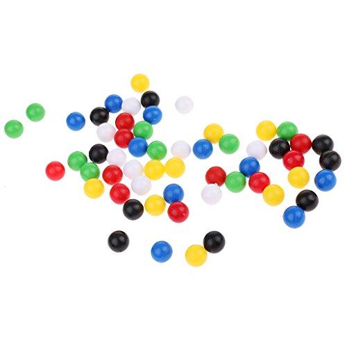 Baoblaze 60er-Set Plastik Kugel Kunstoffkugel Plastikperlen 10 mm, Multicolor (1 Kunststoff-kugeln)