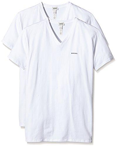 DIESEL Herren UMTEE-MICHAEL T-Shirt, 2er pack, Gr. 46 (Herstellergröße: S), Weiß (Blanco...