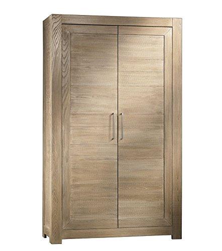 Armadio in frassino naturale 2 porta, mobile moderno legno di frassino, 2 porta, legno naturale, stile moderno, arredo cucina/sala da pranzo/ufficio, fatto in italia, dimensioni: l120xp40xh200cm