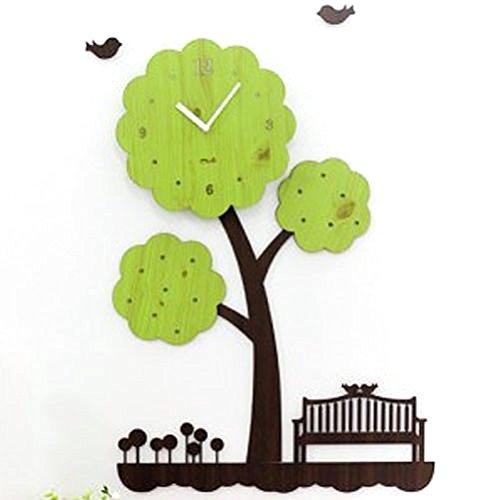 Baum-Dream kein Lärm Baumform DIY Wanduhr Made in Korea/Decor Dekoration Aufkleber Luxus selbstklebend Design/innen 3D Home Art Uhr