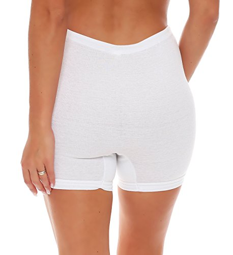 3er Pack Damen Taillen-Slips mit Bein und Baumwollspitze (Schlüpfer, Slip, Unterhose) Nr. 407 - 3