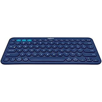 Logitech K380 Multi-Device Bluetooth Keyboard for Windows, Mac, Chrome,  Android, iOS and Apple TV - QWERTY, UK Layout, Blue
