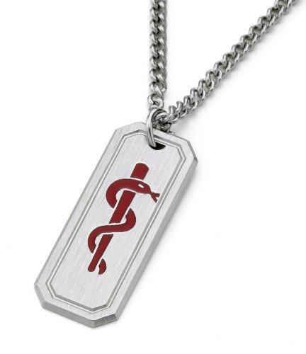 Typ 2Diabetes-Medi Medizinischer Notfallanhänger Halskette Edelstahl