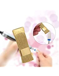Yiwa Dental Drill Bit Cleaning Brush Portable Electric Manicure Drills Copper Wire Drill Brush Cleaner