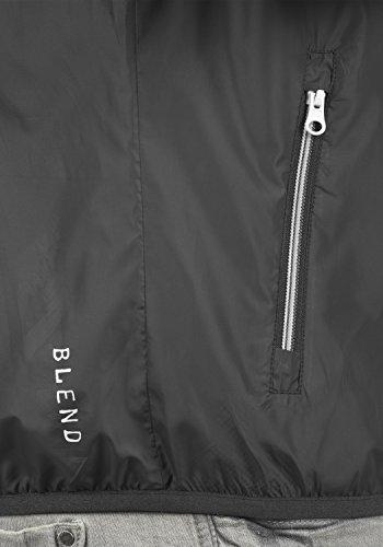 Blend Zubaru Herren Windbreaker Regenjacke Übergangsjacke Mit Kapuze, Größe:M, Farbe:Phantom Grey (70010) - 4