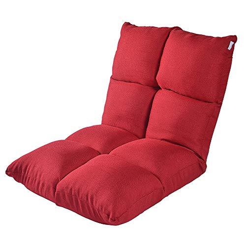 C-K-P Canapé, canapé-lit simple et pliant, fauteuil arrière, balcon, baie vitrée, coussin pliant, fauteuil, canapé (Couleur : Red)