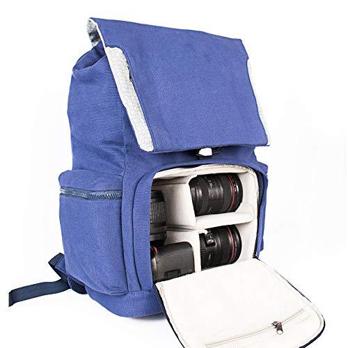 LCJ Fotorucksack, Kamerarucksack wasserdichte Kameratasche Fotorucksack Geeignet Für Spiegelreflexkamera Variable Sperre Innenraum 15,6