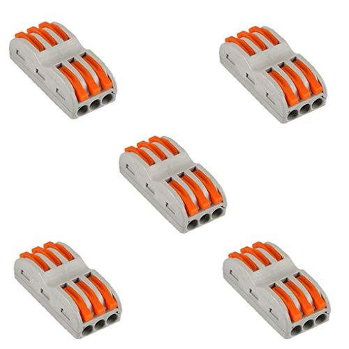 Lorsoul 50PCS / Set Home Lampe Compact Universel Fil Câblage connecteur 6 Broches conducteur Bornier Levier Accessoires Câble
