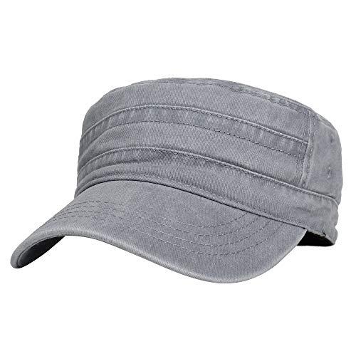 WIM US Estilo del ejército Gorras de béisbol Camuflaje Washed Cotton Cadet  Cap Vintage Military Army Hat Mens Womens KZ40037 (Lightgrey)