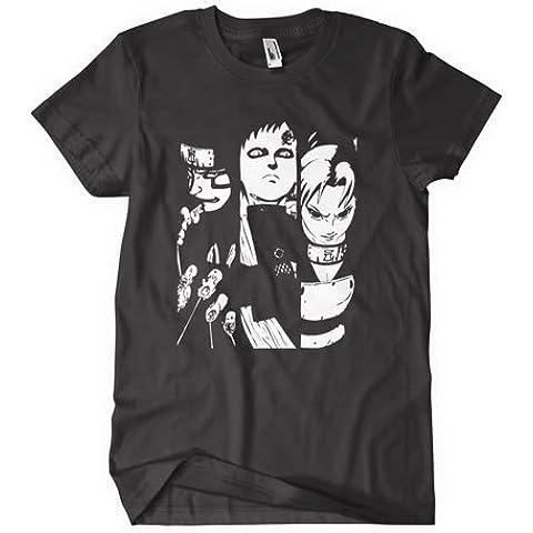 Naruto Shippuden T-camiseta de manga corta inspirado en el manga y a los 3 personajes de manga japonés de Evil en color