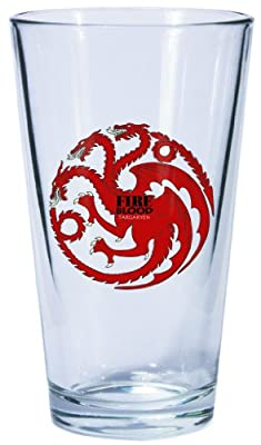 Game Of Thrones Targaryen Sigil Pint Glass
