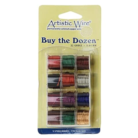 12 Color Buy The Dozen Artistic Craft Wire Tarnish Resistant 22 Gauge (12 Pack)