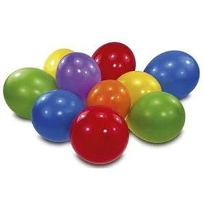 """Amscan-6435-10globos látex colores multicolor 65cm 7"""""""
