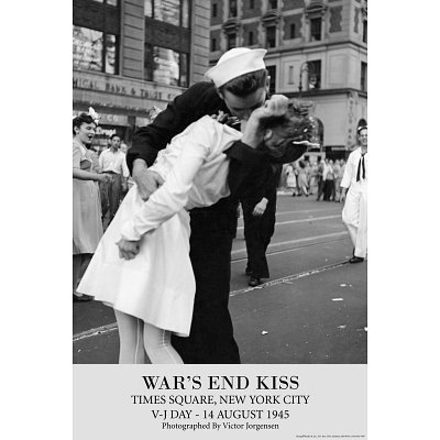 Wars End Kiss ((24x36) Victor Jorgensen War's End Kiss VJ Day Art Print Poster by Poster Revolution)