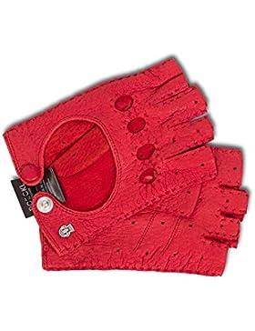 Klassischer Halbfinger Autohandschuh von Roeckl Peccary rot