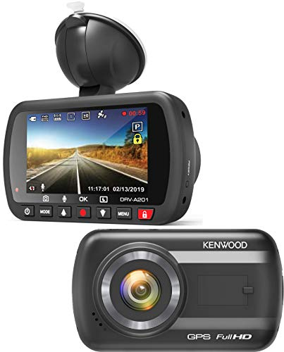 Kenwood DRV-A201 Full HD Dash Cam with 3 Axis G-Sensor and GPS + 16GB Micro SD Card