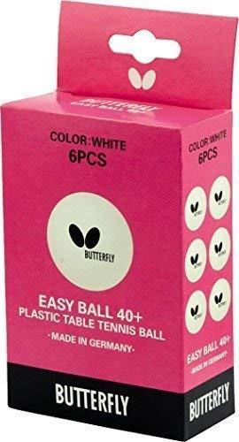 Sport Butterfly Plastik einfach Ball 40 + Tisch Tennisbälle - Packung von 6 -
